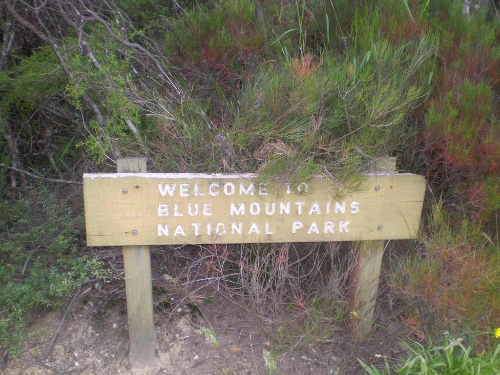 Welcome to Blue Mountains NP sign