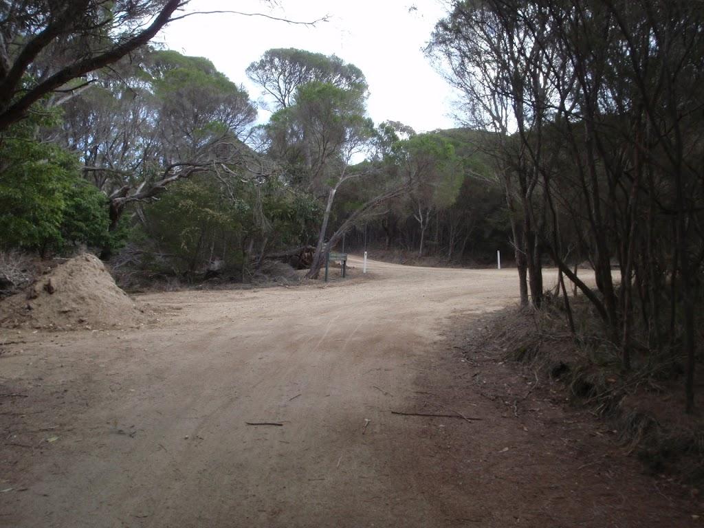 Service trail to Bournda Lagoon car park