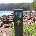 Arrow marker along bay (102934)
