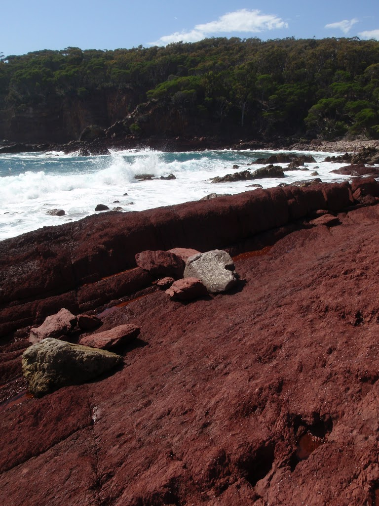 Red rock in the bay