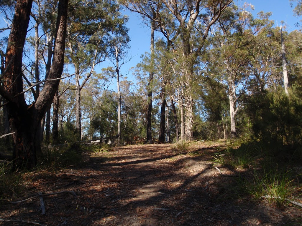 Track up the hill to Bournda Trig