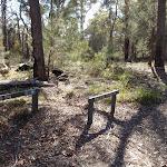 Signposts at Bournda Trig and Field Study Huts intersection