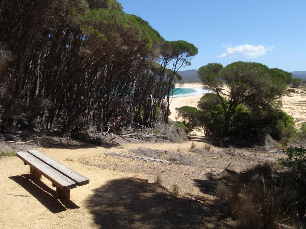 Seat at the top of Wallagoot Beach