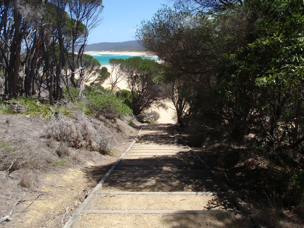 Stairs off the north end of Wallagoot Beach