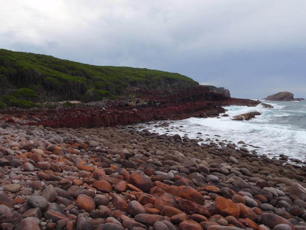 Spectacular rock at red platform bay
