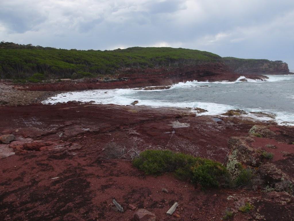 Red platform bay looking north