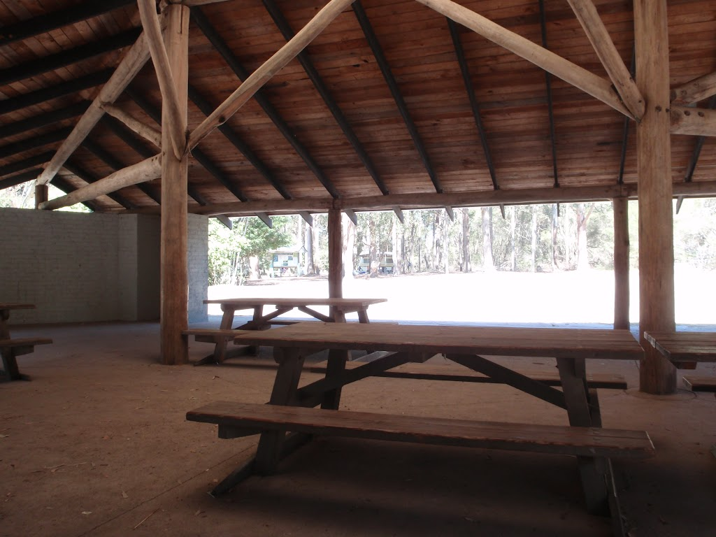 Hobart Beach camping area shelter