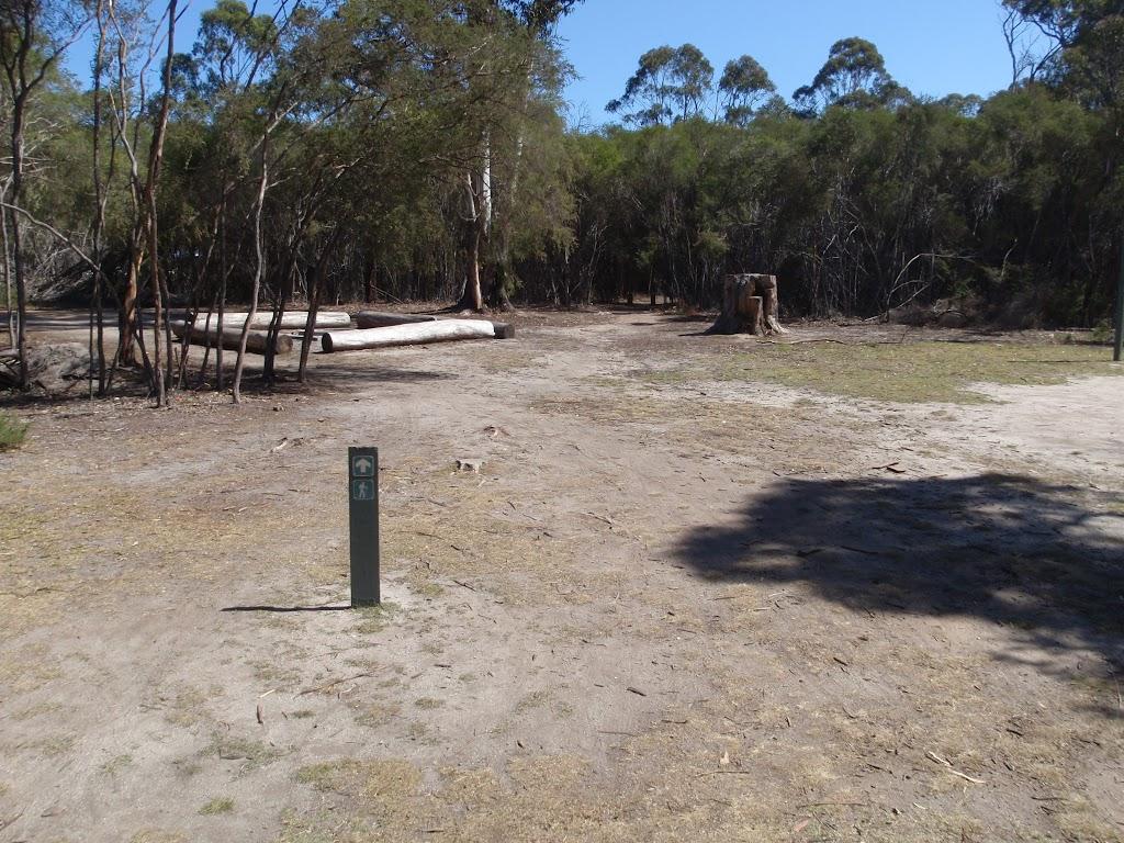 Arrow marker next to track