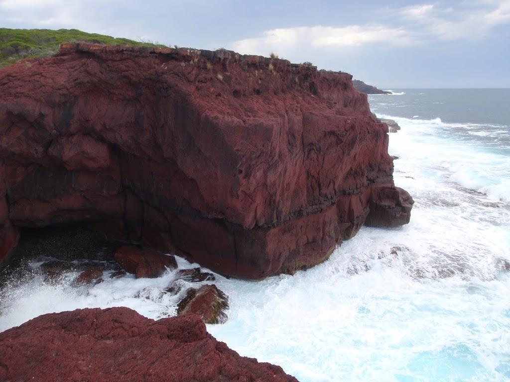 Red cliffs inlet