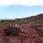 Arrow marker on red cliffs