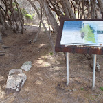 Information sign on track north of Saltwater Creek