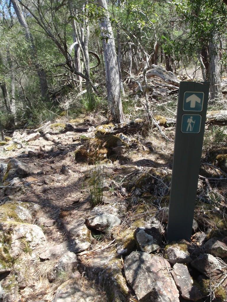 Arrow marker beside Bournda Lagoon track