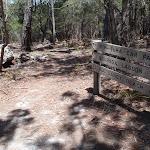 Signpost along track