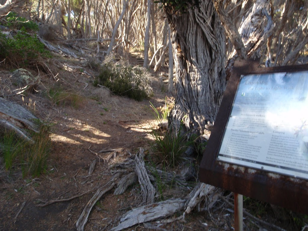 Information sign just above Saltwater Creek Beach