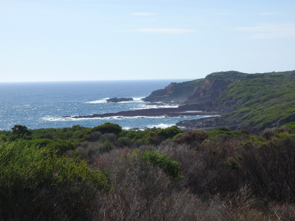 Views down the coast from the open heath land south of Saltwater Creek