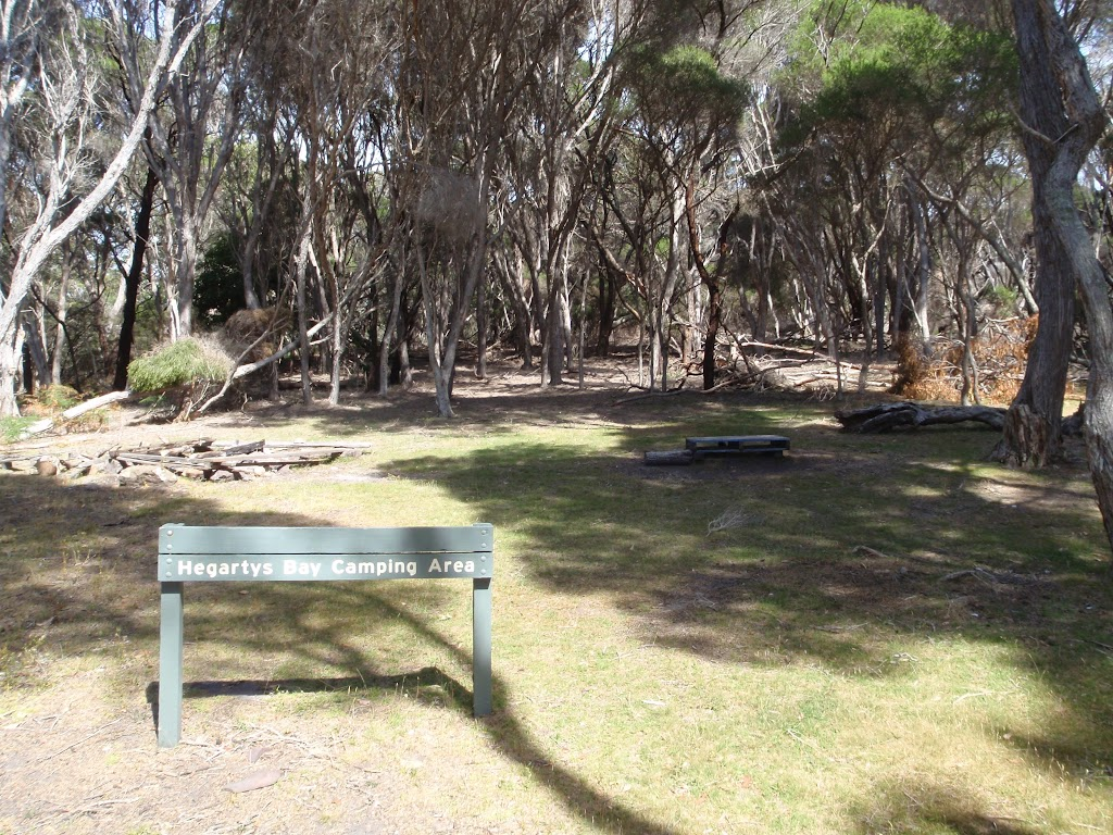 Hegartys Bay camping area