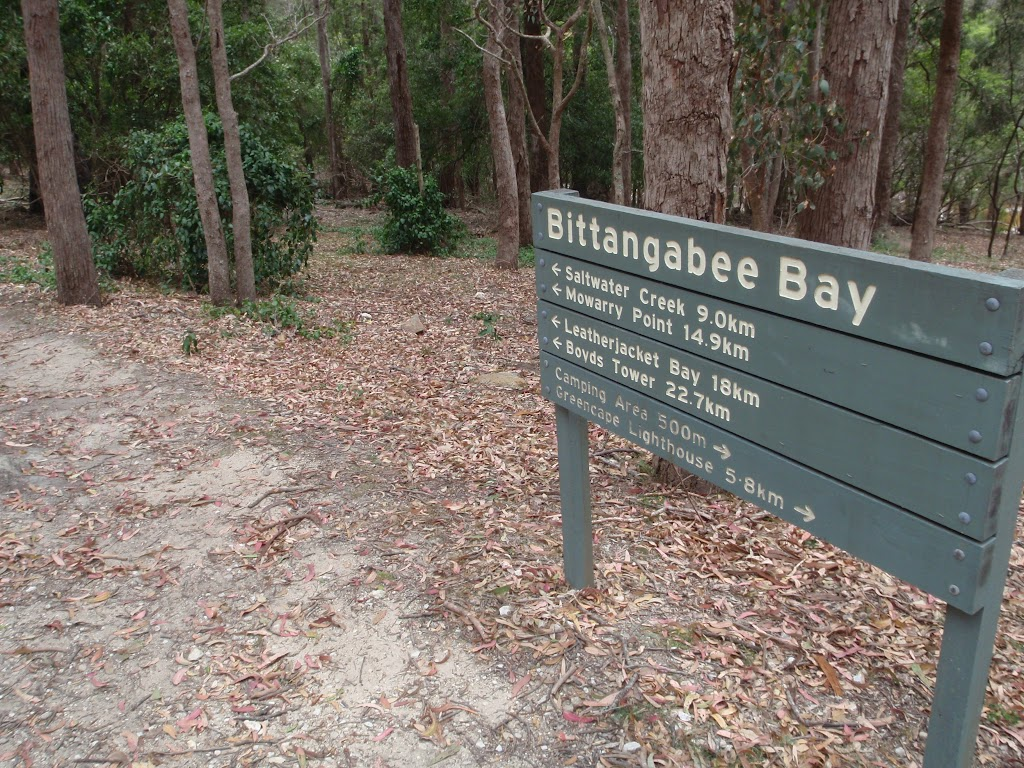 Sign above Bittangabee picnic area