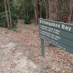 Sign above Bittangabee picnic area (106555)