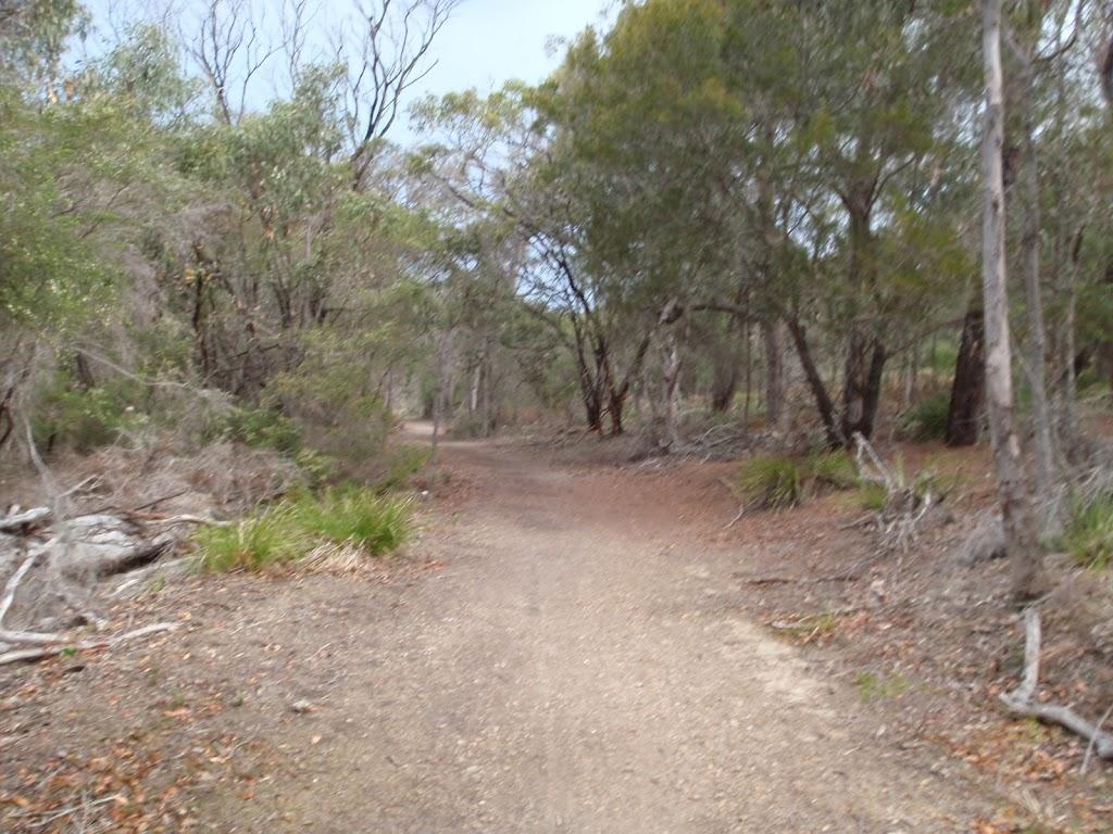Track to Bournda Beach car park