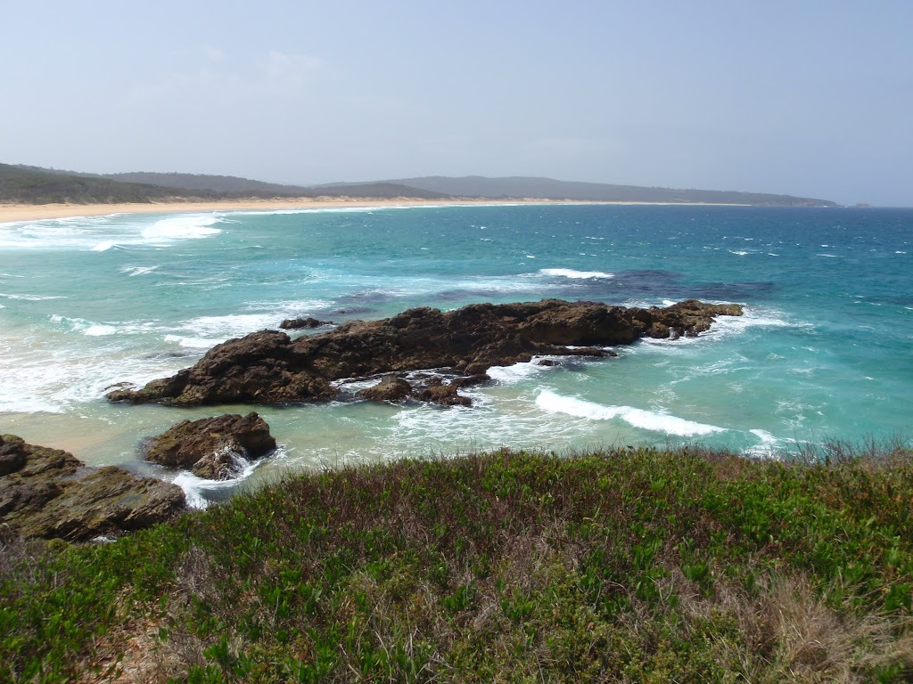 View of Bournda Beach from Bournda Island (107104)