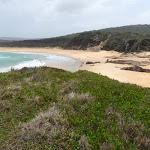 North Tura Beach from Bournda Island (107116)