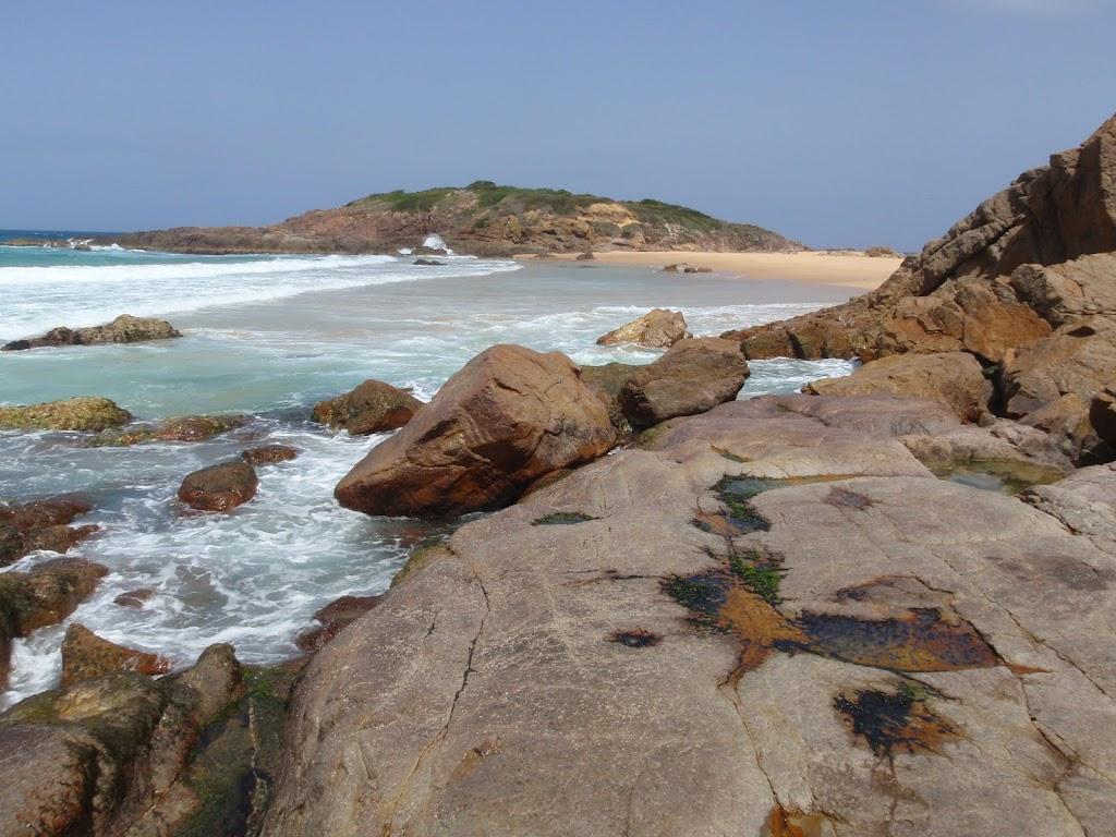 Bournda Island from rocks