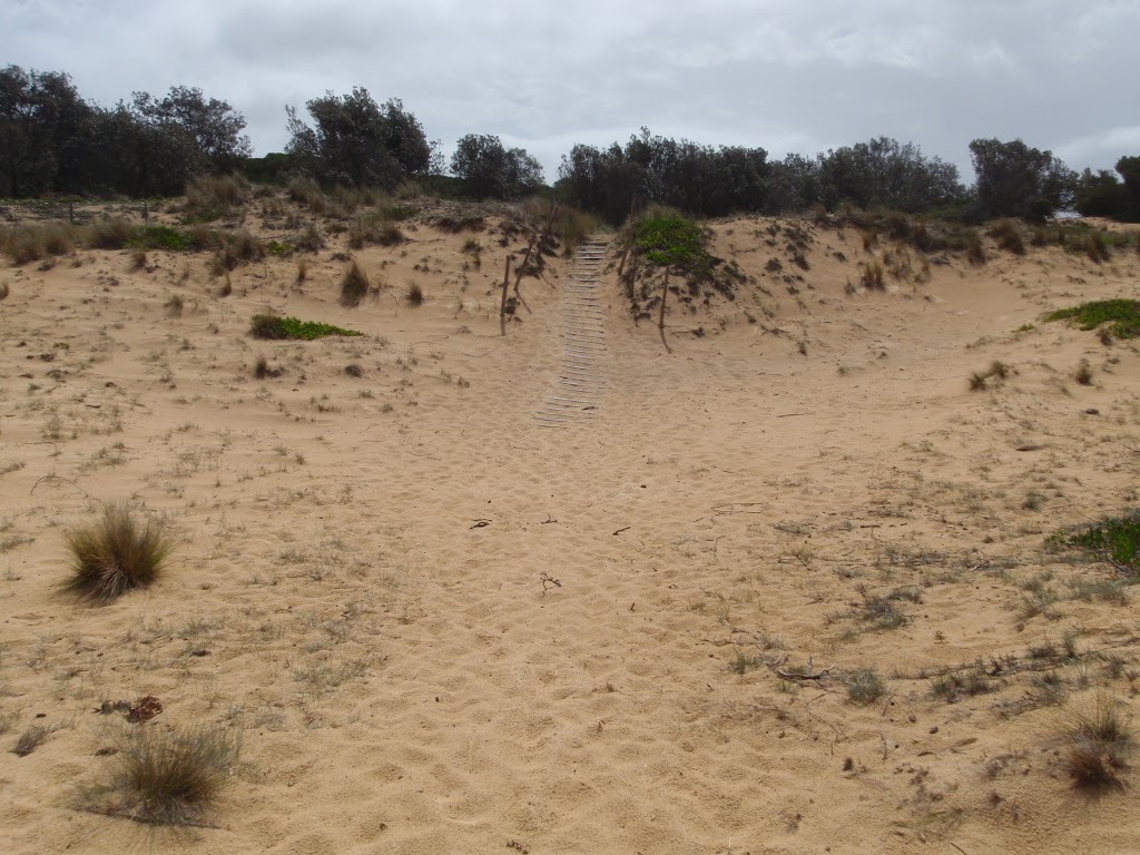 Back of beach to stairs up dunes