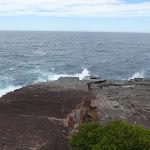 Waves crashing on Pulpit Rock