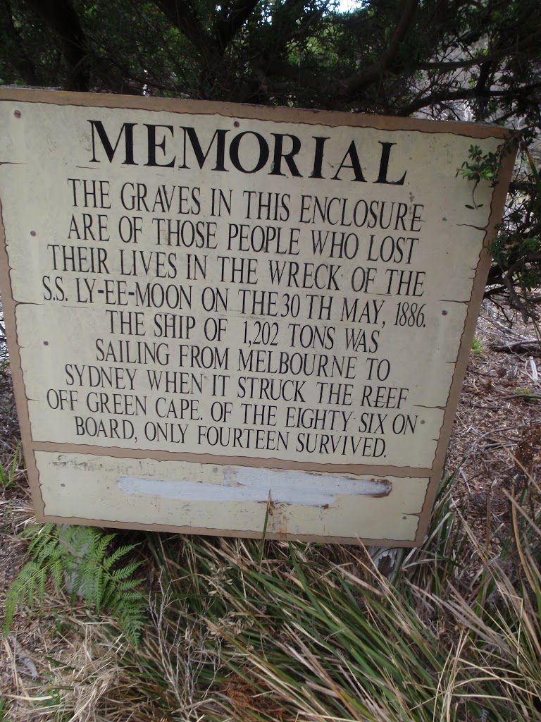 Information sign at graveyard