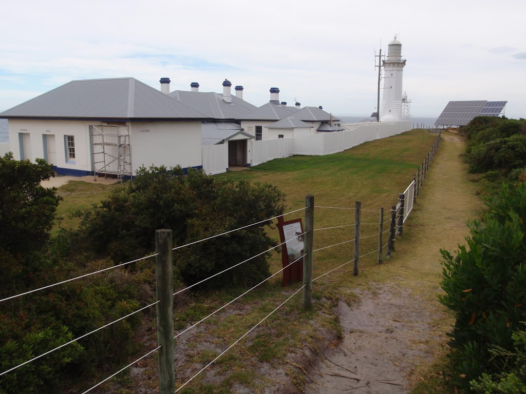 Track along Green Cape Lighthouse buildings