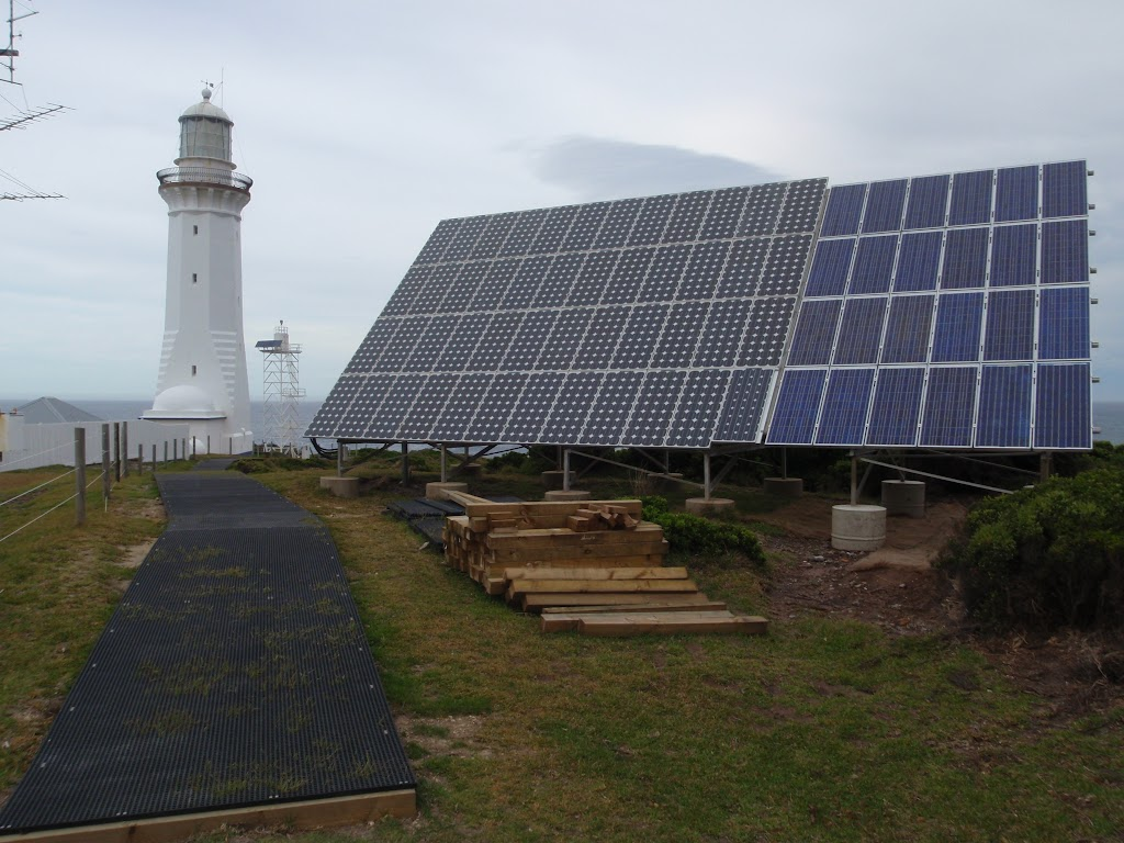 Green Cape Lighthouse's solar panels