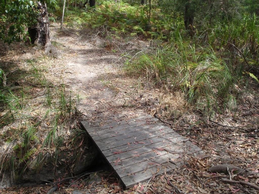 Foot bridge on track