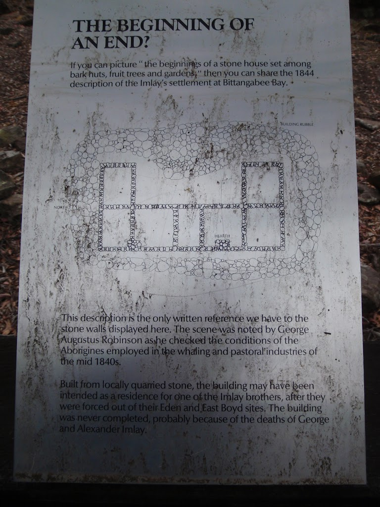 Information at Imlay House ruins