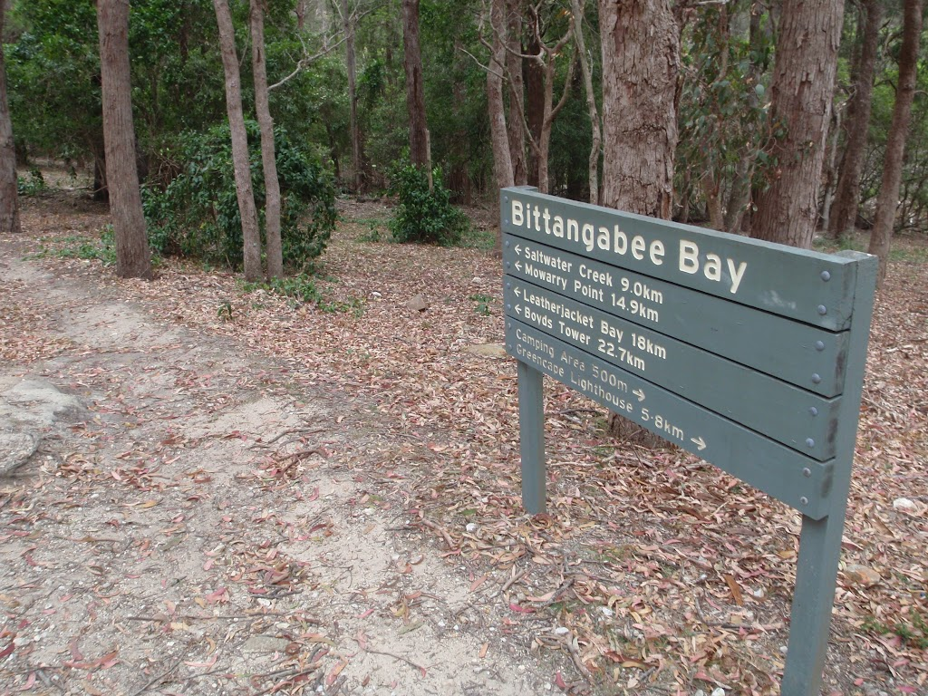 Signpost at Bittangabee Bay picnic area