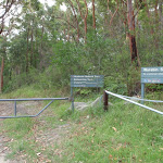 gate at end of Warabin Road (115759)
