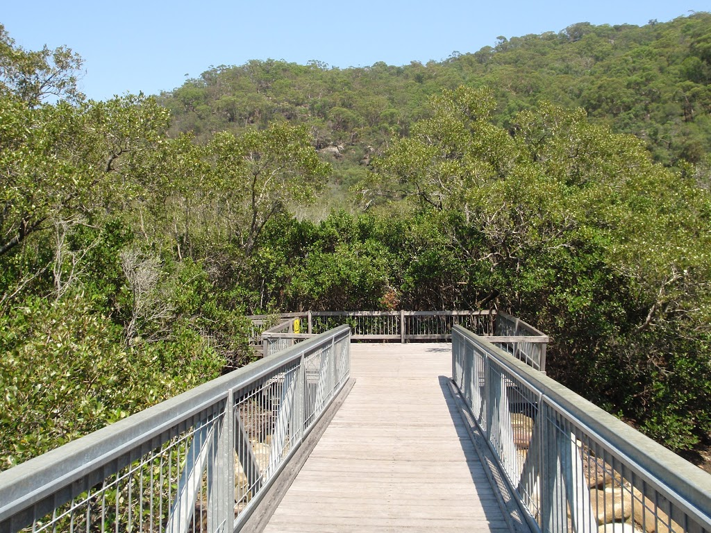Looking across the bridge to the viewing platform