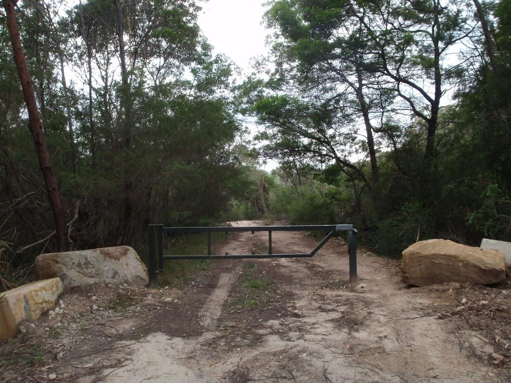 Heading through a National Park gate