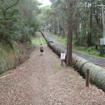 following the pipeline near scout hall