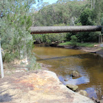 Middle Harbour Creek and the pipe bridge