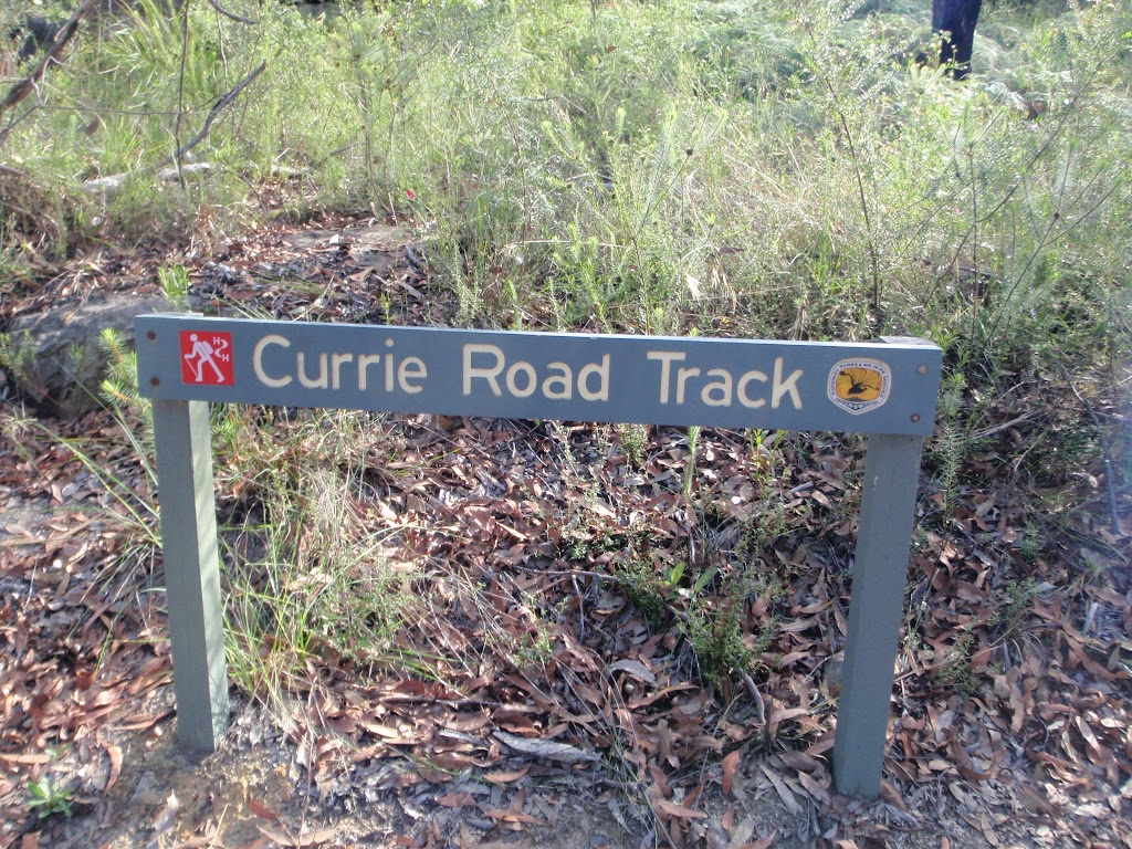 Currie Road Track sign