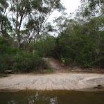 Crossing a wide creek