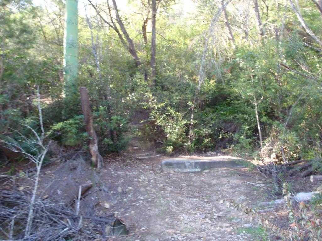 End of the Gordon Creek service trail