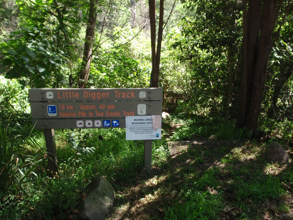Sign at top of Little Digger track