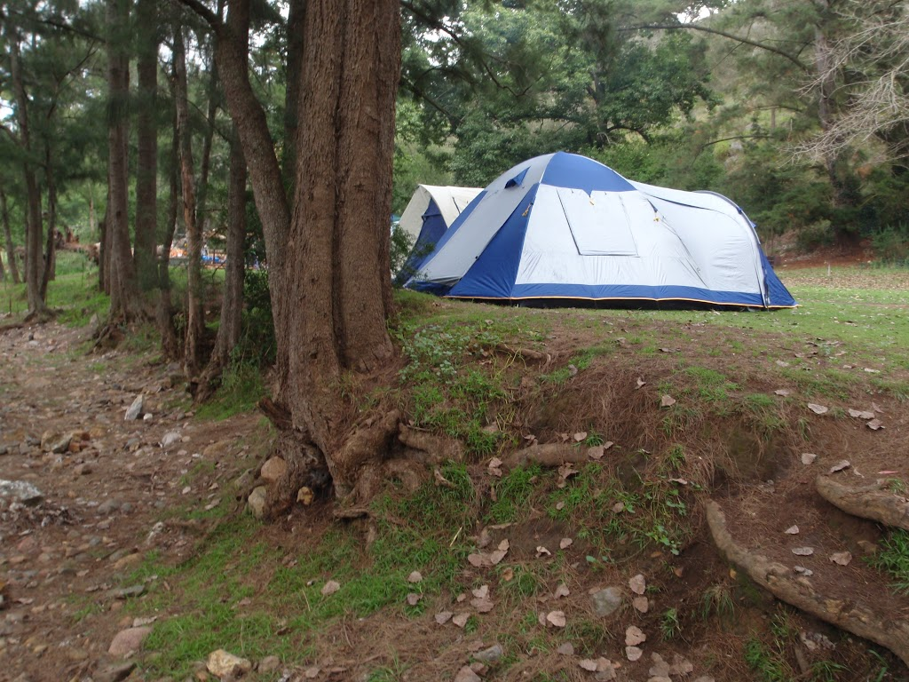 My tent beside the dry Wombeyan Creek