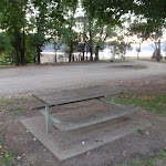 There are several picnic tables