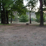 Several campsites amung the trees