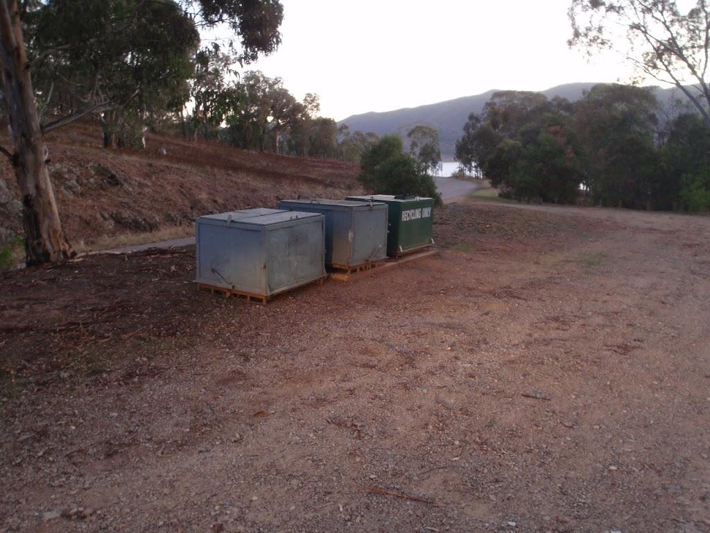 Garbage bins at Log Bridge Creek