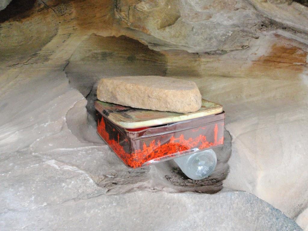 Log book box in Attic Cave