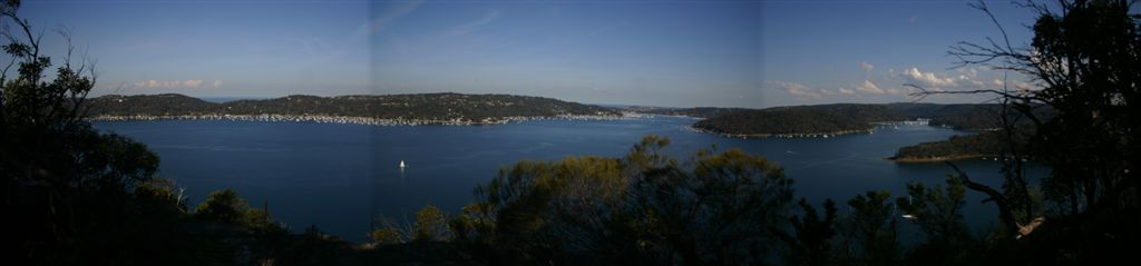 The view from Towlers bay lookout