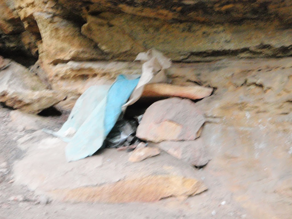 Stash of gear in Dadder cave